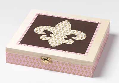 Fleur De Lis Square Box