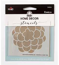 FolkArt ® Home Decor™ Stencils - Camelia - 34954