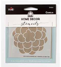 FolkArt ® Home Decor™ Stencils - Camelia