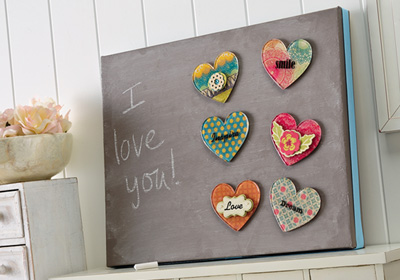 Family Heart Magnetic Chalkboard