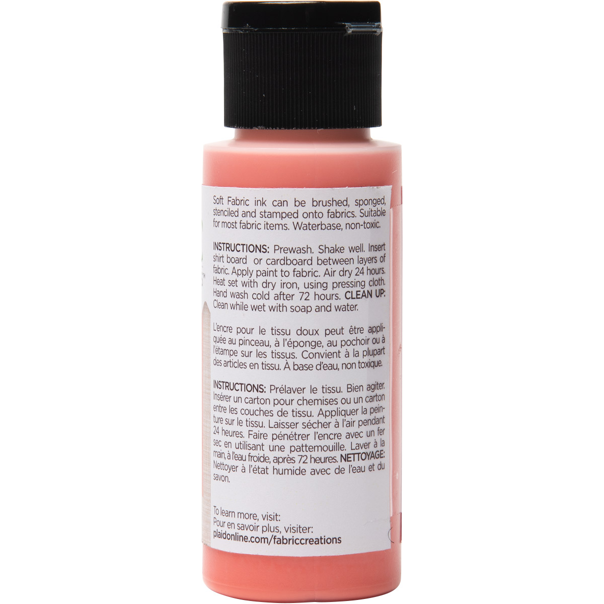 Fabric Creations™ Soft Fabric Inks - Coral, 2 oz. - 27031