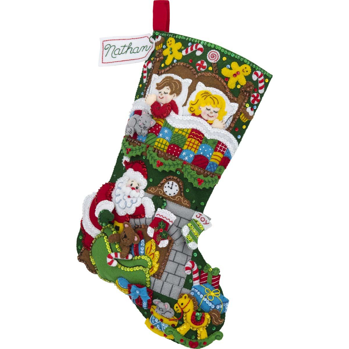 Bucilla ® Seasonal - Felt - Ornament Kits - Tis a Night Before Christmas - 89288E