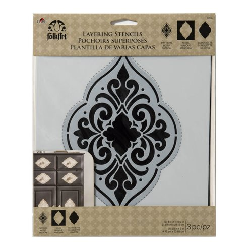 F/A HOME DECOR MEDALLION MASKING STENCIL, 3
