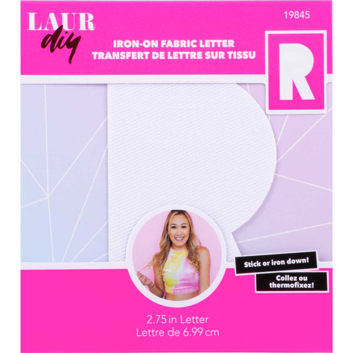 LaurDIY ® Iron-on Fabric Letters - R