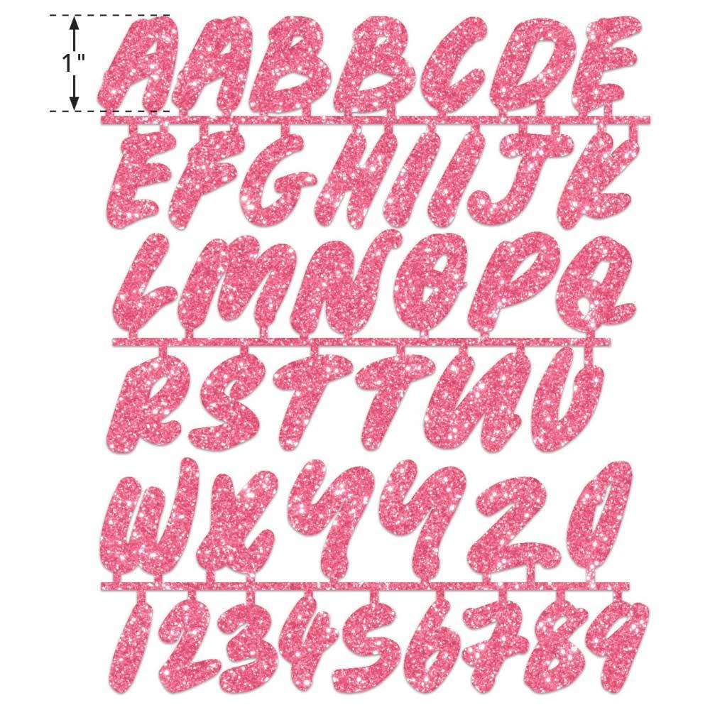LaurDIY ® Iron-on Glitter Fabric Letters - Sweetie Pie - 19878