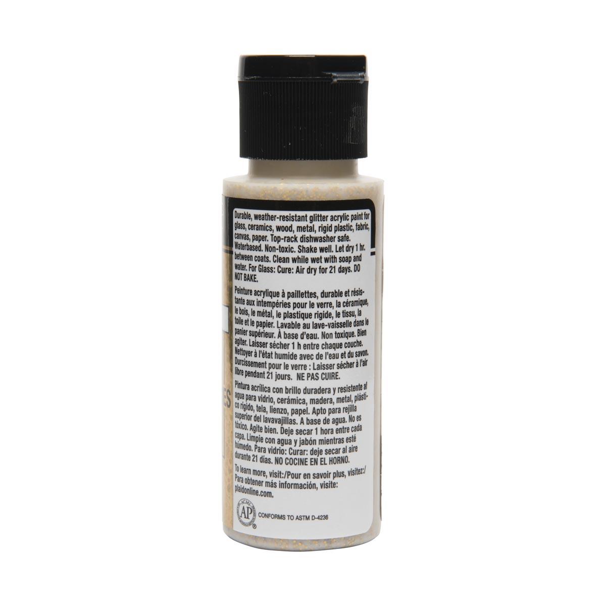 FolkArt ® Multi-Surface Glitter Acrylic Paints - Chunky Gold, 2 oz.
