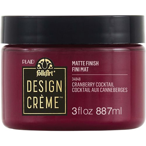 FolkArt ® Design Creme™ - Cranberry Cocktail, 3 oz. - 34848