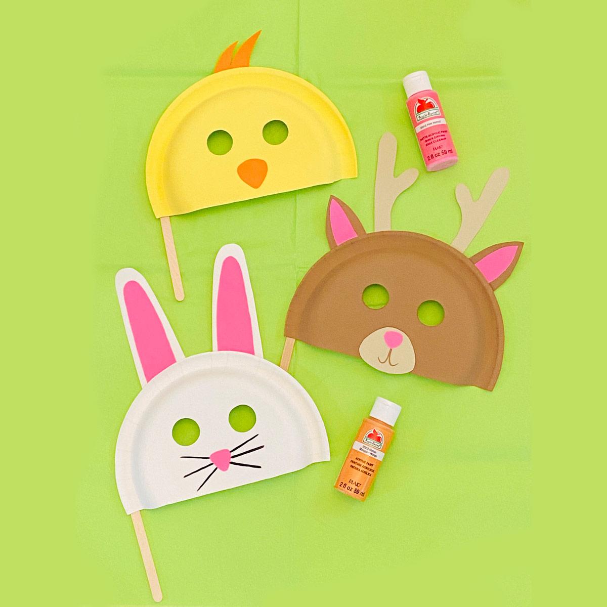 Easter Paper Plate Masks