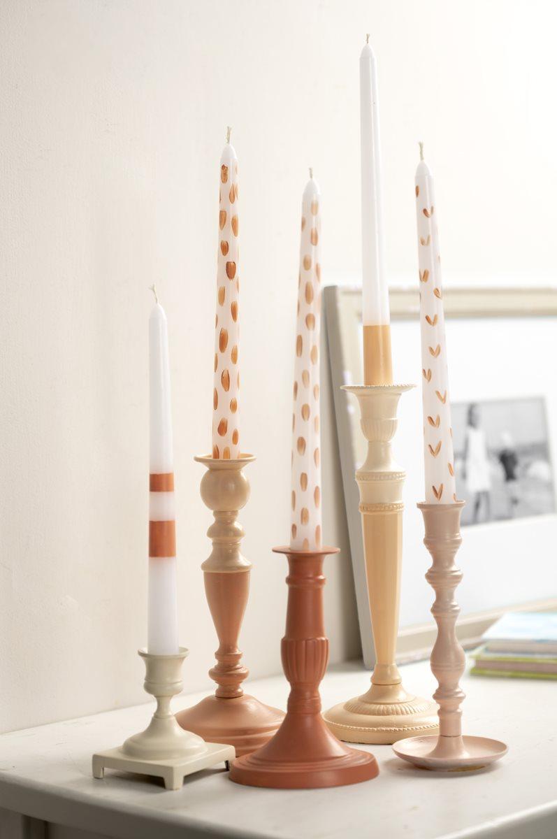 Refreshed Pink Candlesticks