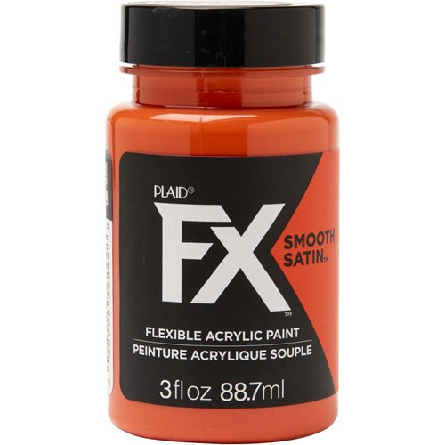 PlaidFX Smooth Satin Flexible Acrylic Paint - Orbital Orange, 3 oz.