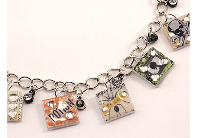 Halloween Charm Bracelet with Mod Podge