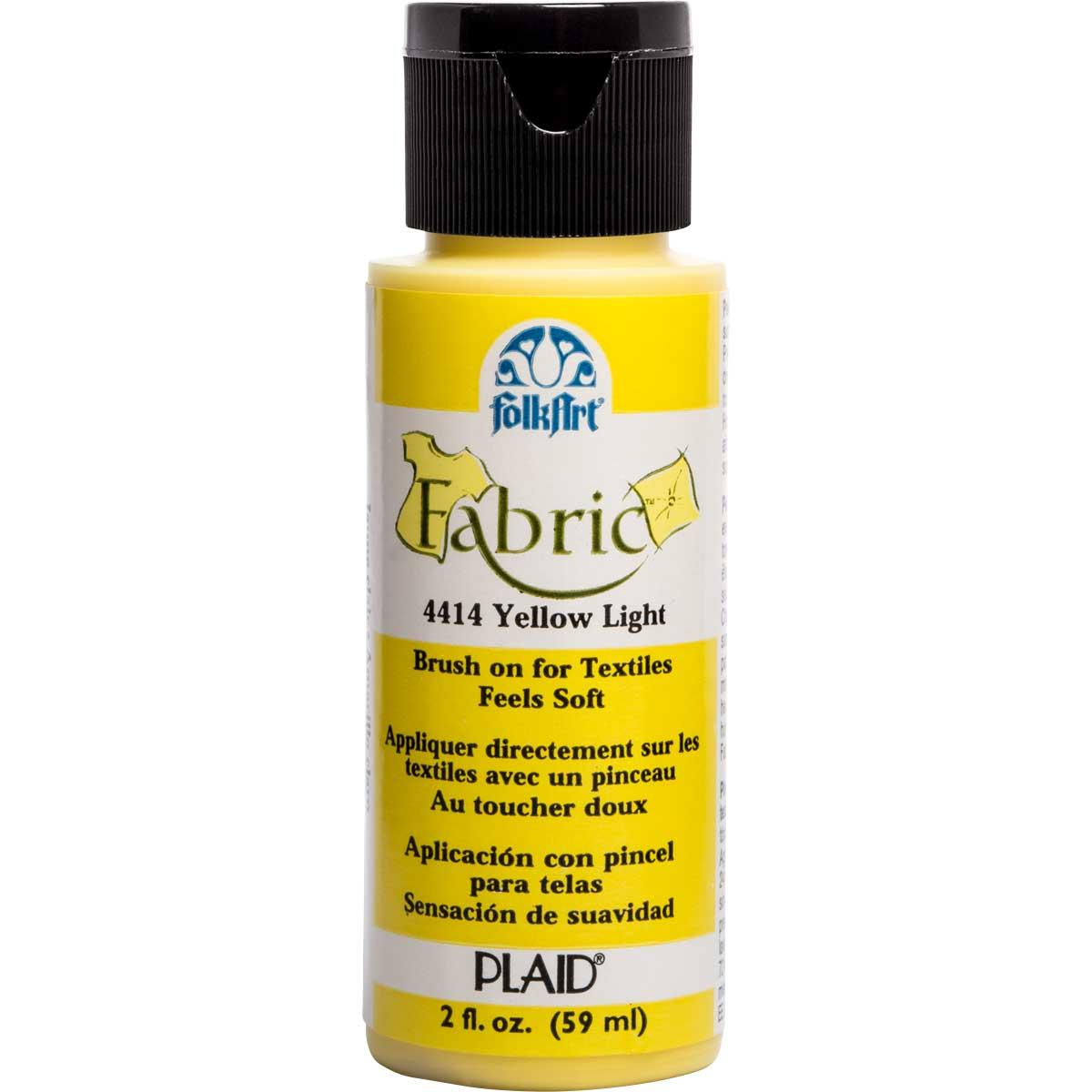FolkArt ® Fabric™ Paint - Brush On - Yellow Light - 4414