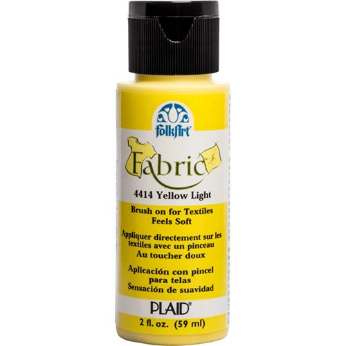 FolkArt ® Fabric™ Paint - Brush On - Yellow Light - 4414