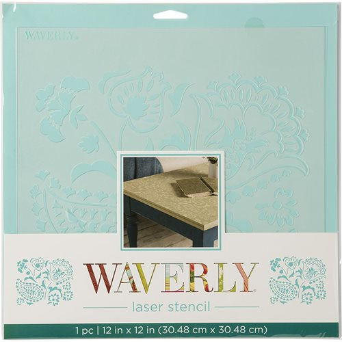 "Waverly ® Laser Stencils - Siren Song, 12"" x 12"" - 36401"
