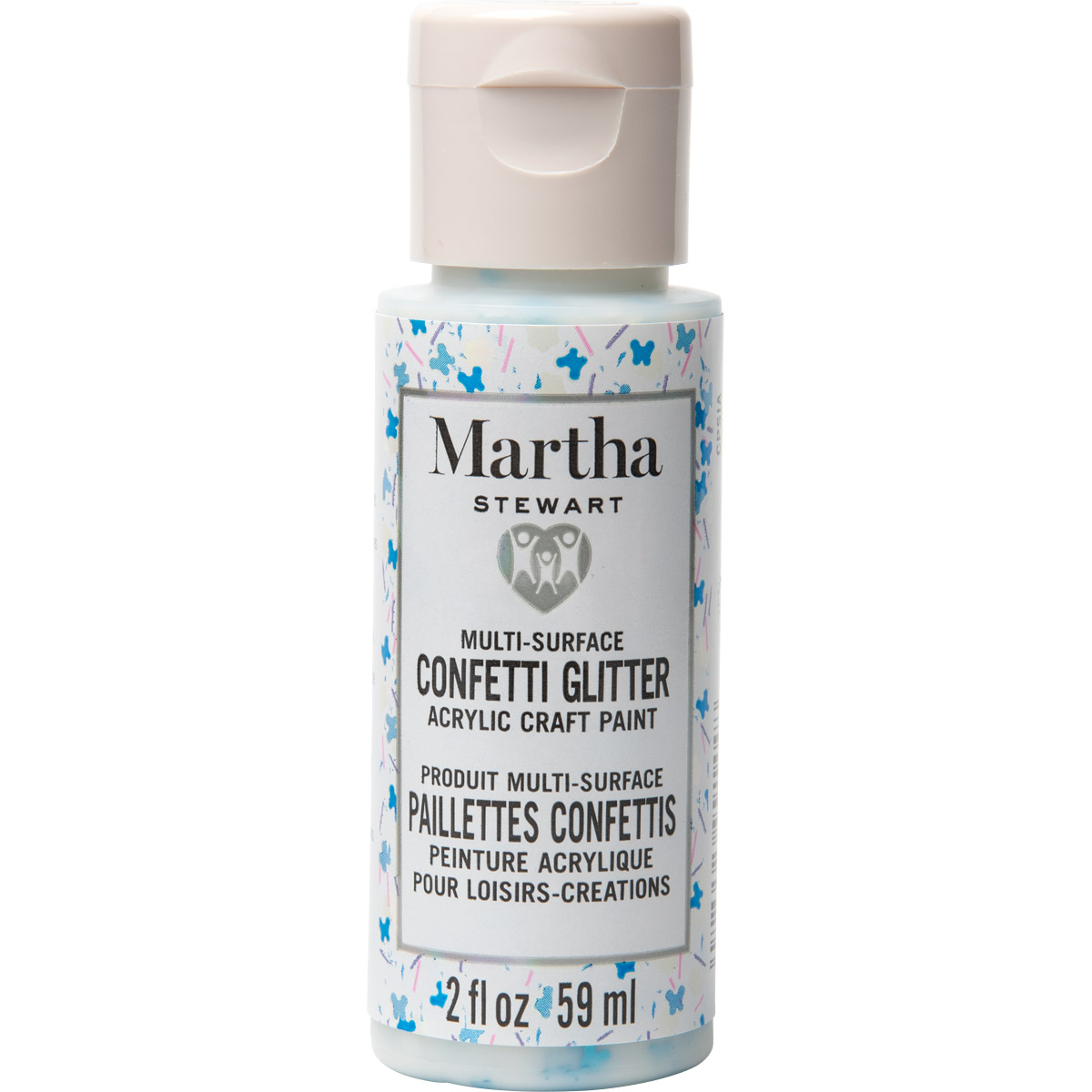 Martha Stewart ® Multi-Surface Confetti Glitter Acrylic Craft Paint CPSIA - Butterfly Party, 2 oz. -