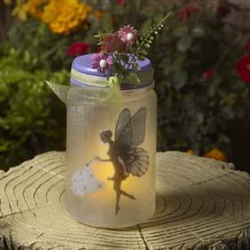 Easy Fairy Garden Idea - Lighted Fairy Jars