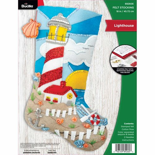 Bucilla ® Seasonal - Felt - Stocking Kits - Lighthouse - 89260E