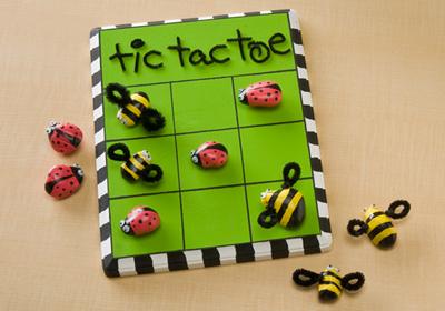 Ladybug Vs. Bumblebee Tic Tac Toe