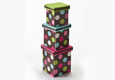 Wrapping Paper Nesting Boxes