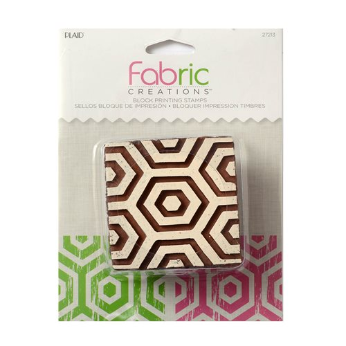 Fabric Creations™ Block Printing Stamps - Medium - Hex Honeycomb