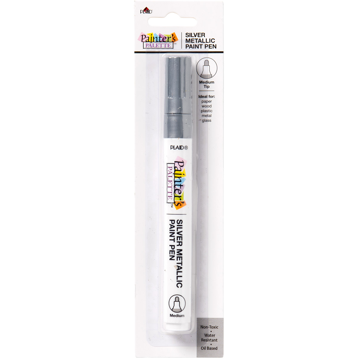 Plaid ® Painter's Palette™ Metallic Paint Pen - Silver - 23266