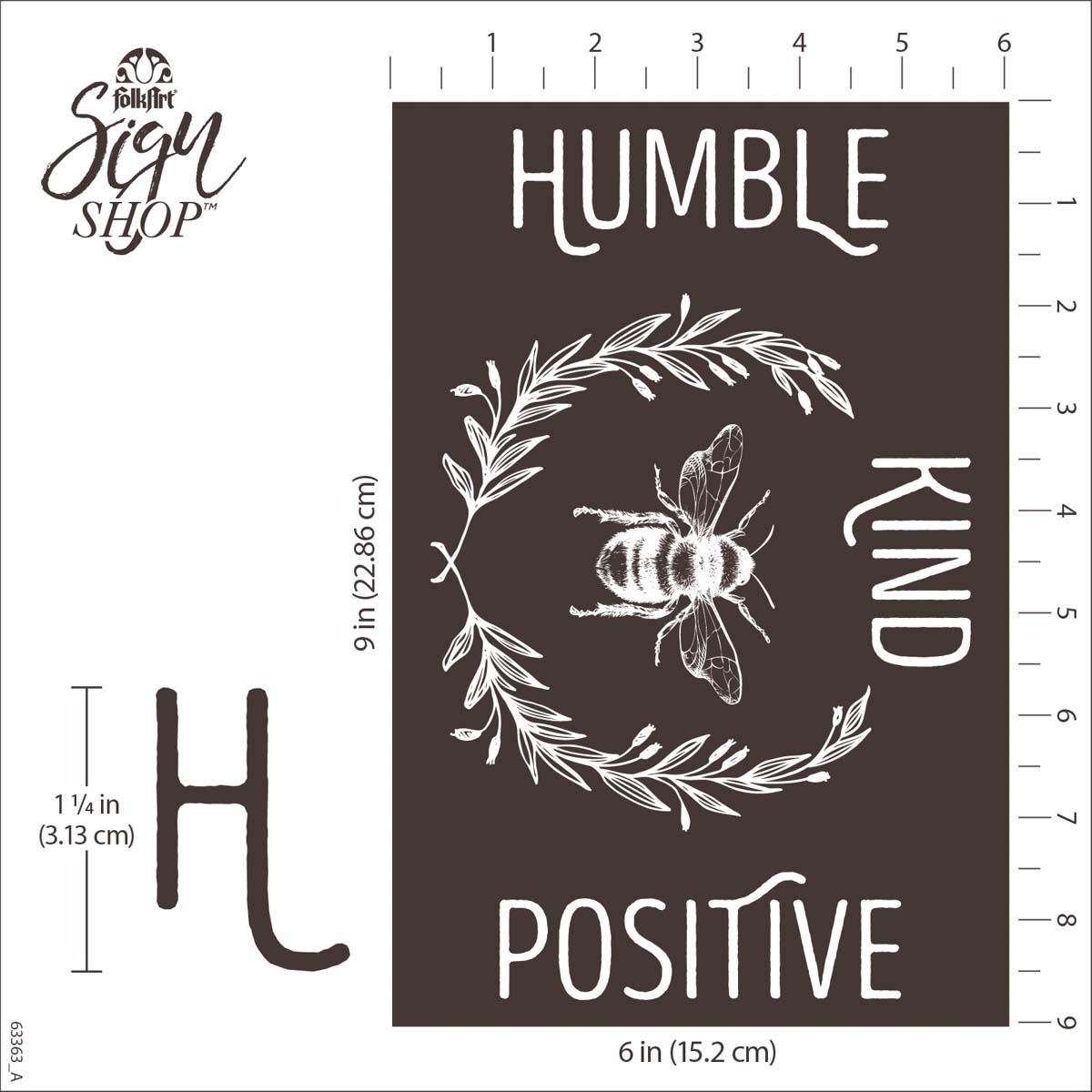FolkArt ® Sign Shop™ Mesh Stencil - Humble Hive, 2 pc. - 63363