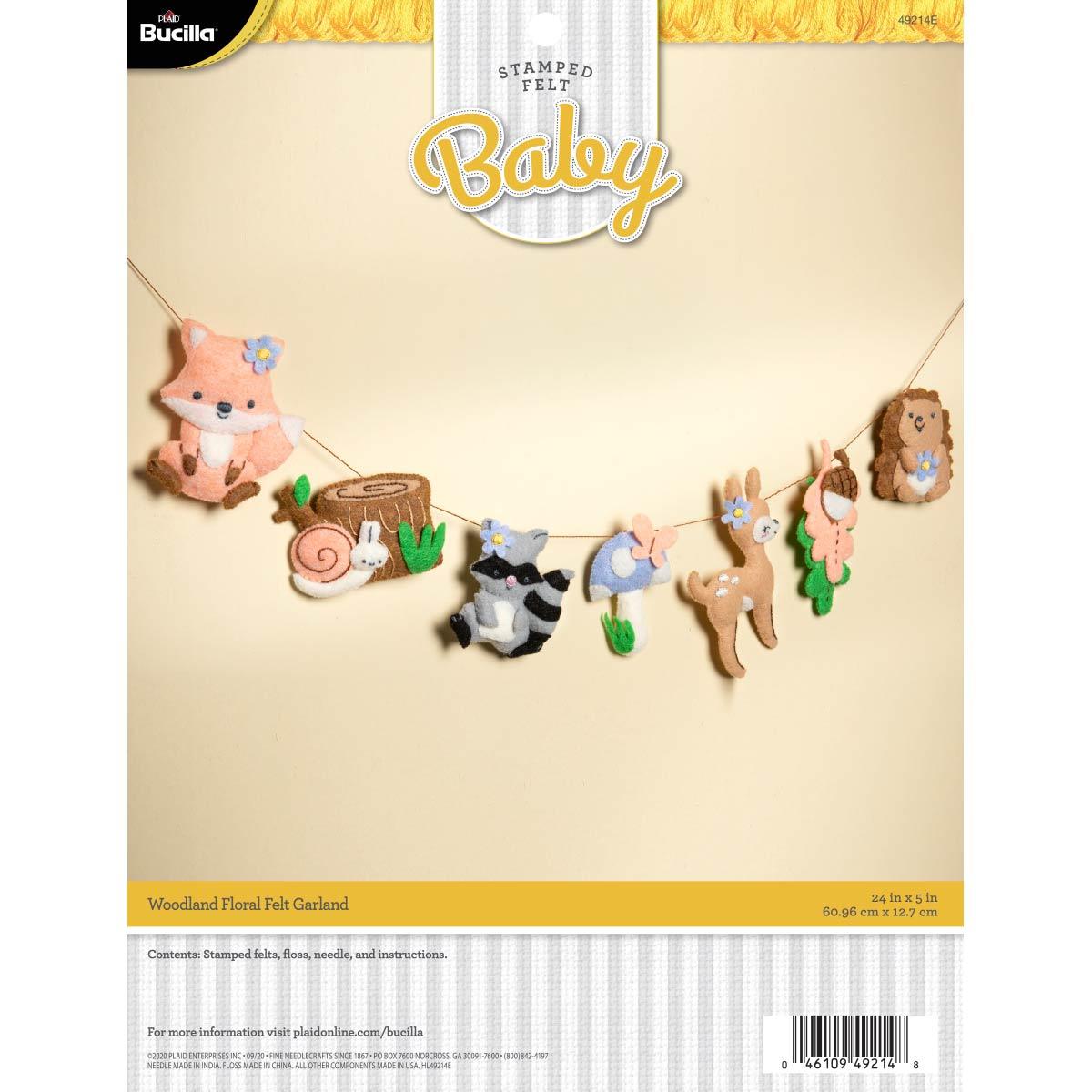 Bucilla ® Baby - Felt - Crib Ensembles - Woodland Floral - Garland - 49214E