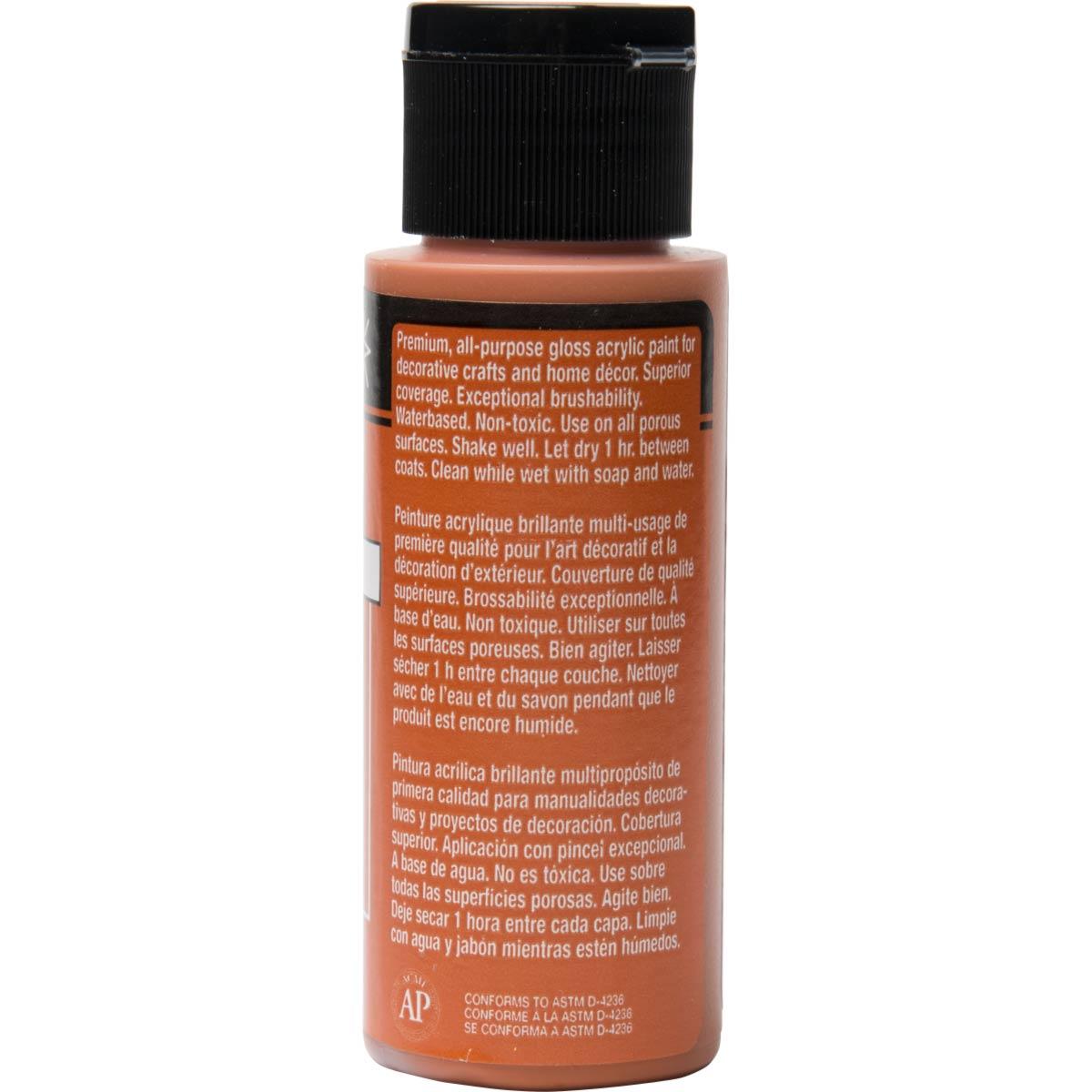 FolkArt ® Shiny™ Acrylic Paint - Pure Orange, 2 oz. - 2703
