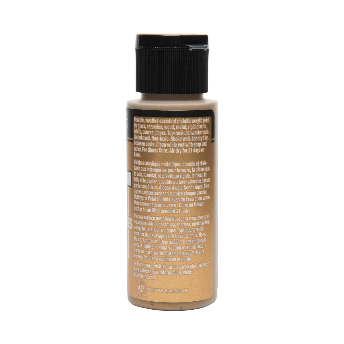 FolkArt ® Multi-Surface Metallic Acrylic Paints - Anitque Gold, 2 oz.