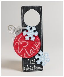 Days 'til Christmas Door Hanger