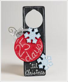 Days 'til Christmas Door Hanger