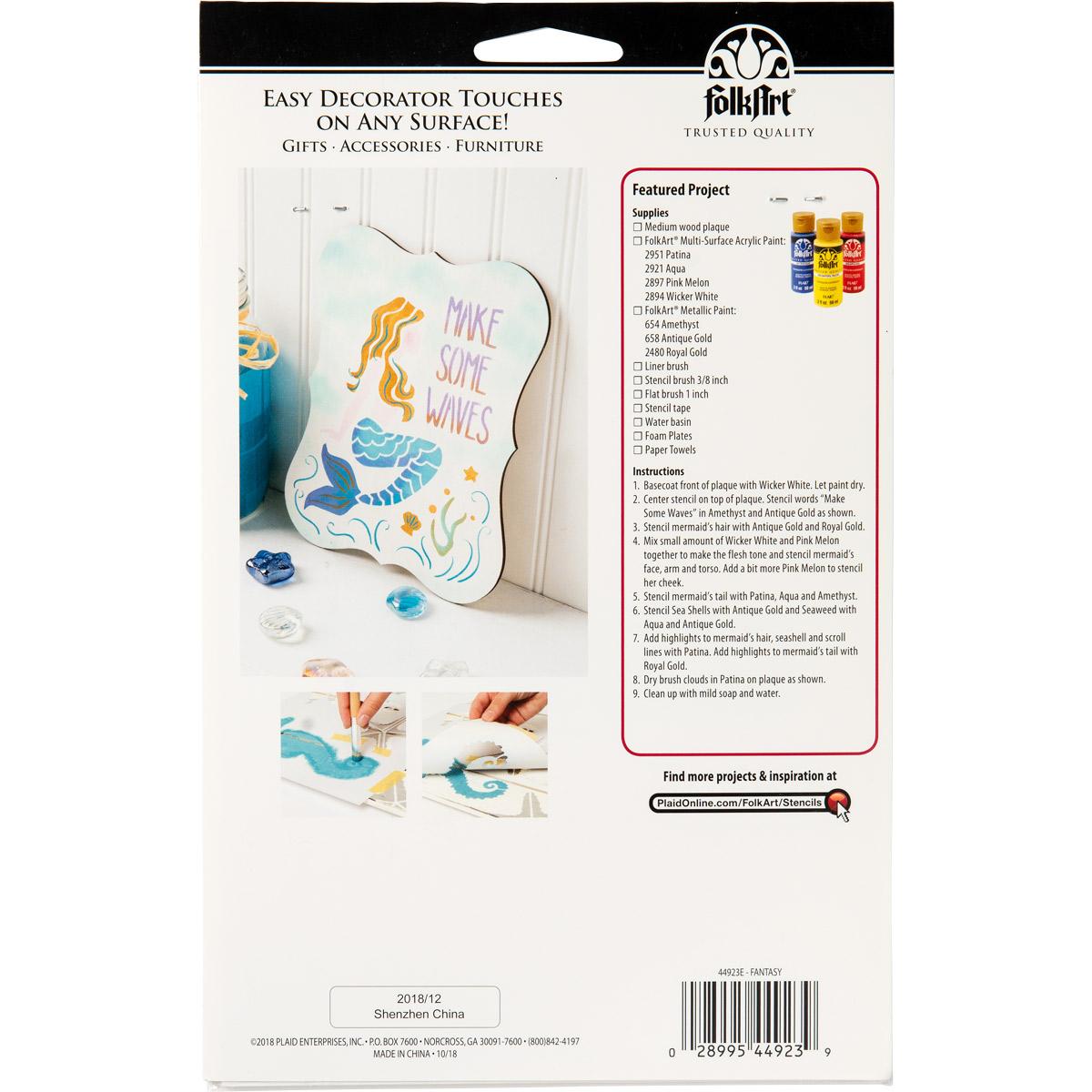 FolkArt ® Stencil Value Packs - Fantasy, 6