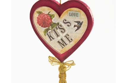 Kiss Me Hanging Heart