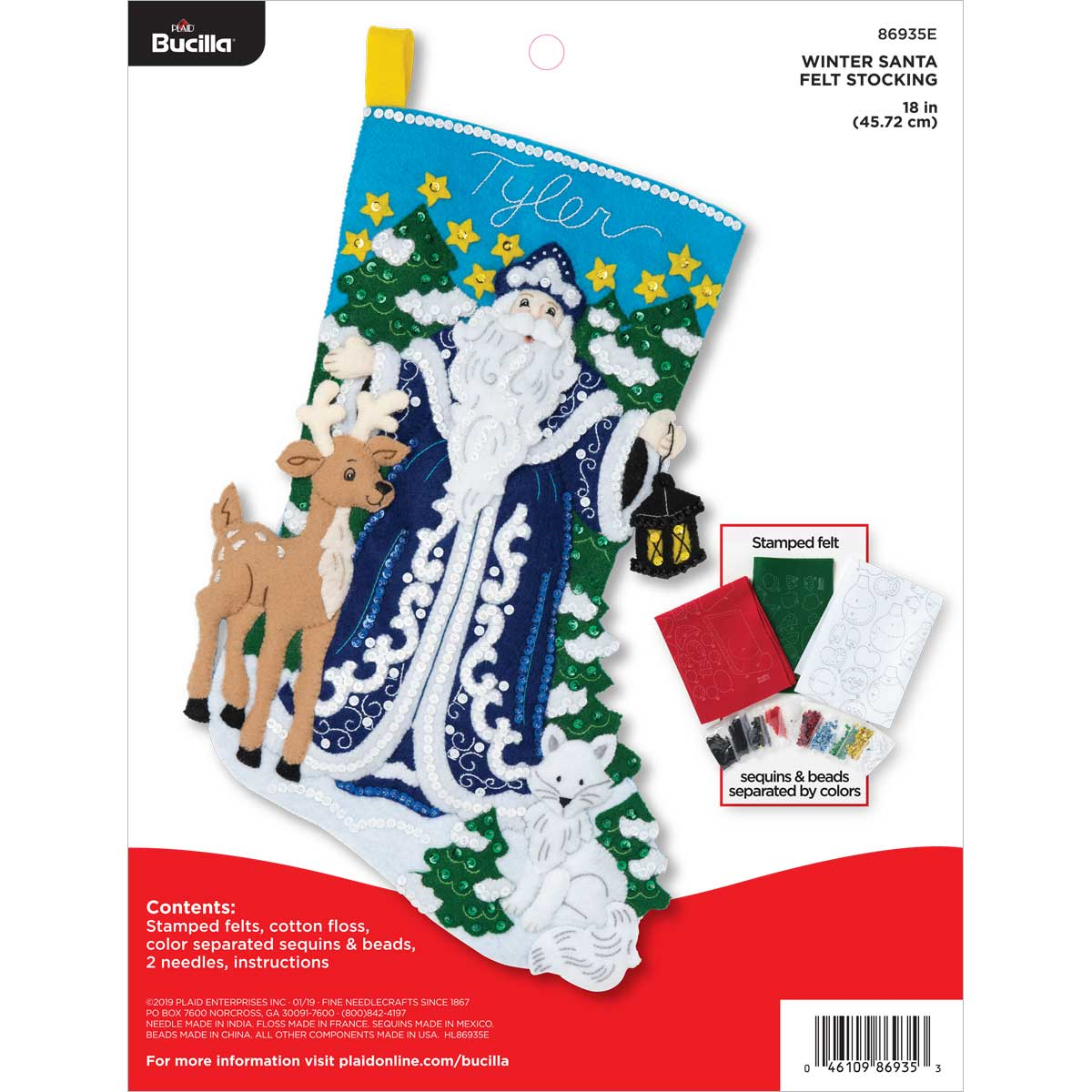 Bucilla ® Seasonal - Felt - Stocking Kits - Winter Santa