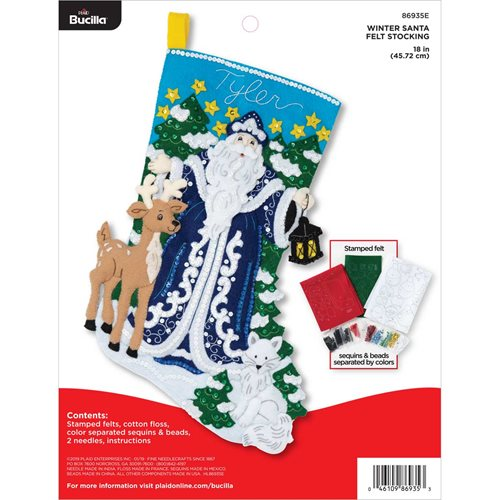Bucilla ® Seasonal - Felt - Stocking Kits - Winter Santa - 86935E