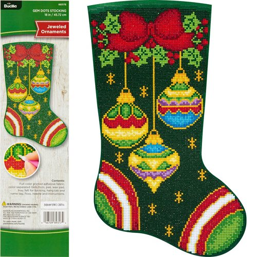 Bucilla ® Seasonal - Gem Dots - Stocking Kits - Jeweled Ornaments - 89317E