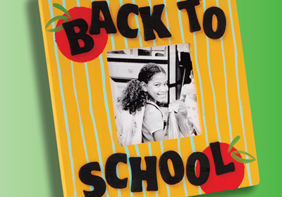 """Back to School"" Picture Frame with Apple Barrel Paints"