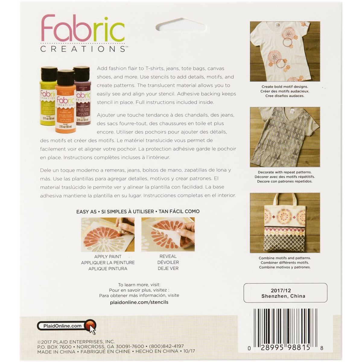 Fabric Creations™ Adhesive Stencils - Tribal, 6