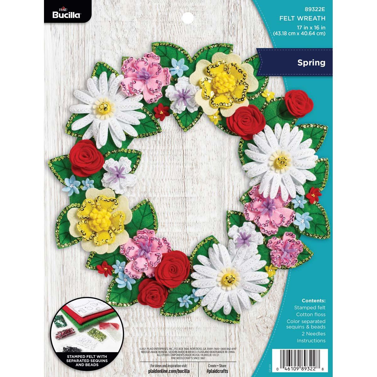 Bucilla ® Seasonal - Felt - Home Decor - Spring Wreath - 89322E