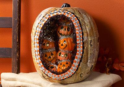 Vintage Inspired Diorama Pumpkin