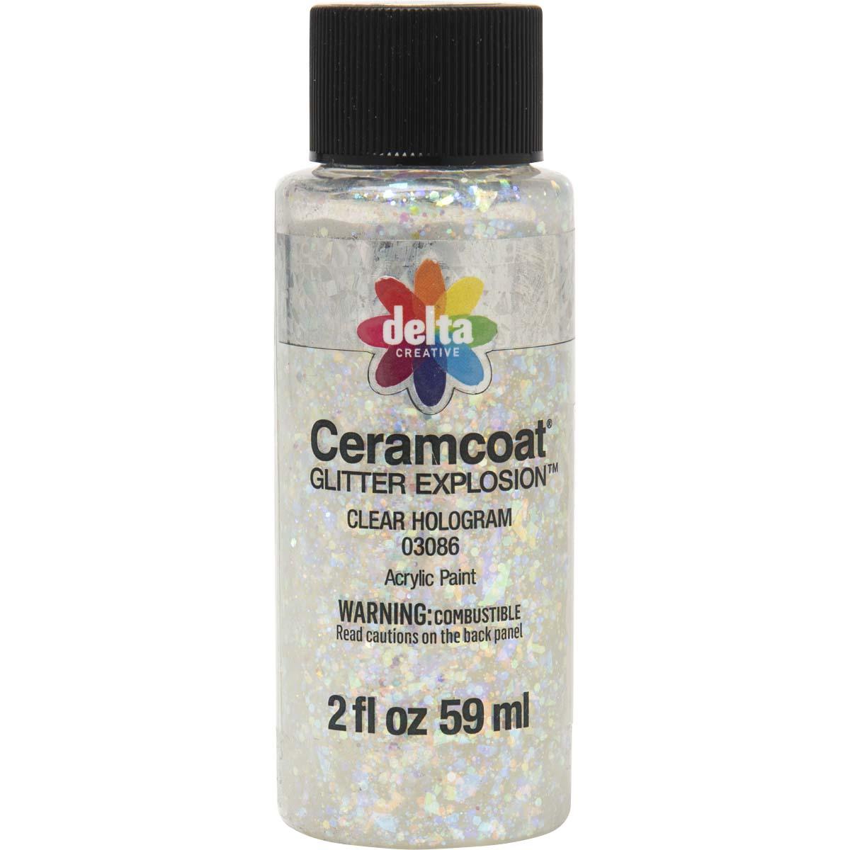Delta Ceramcoat ® Glitter Explosion™ - Clear Hologram, 2 oz. - 03086
