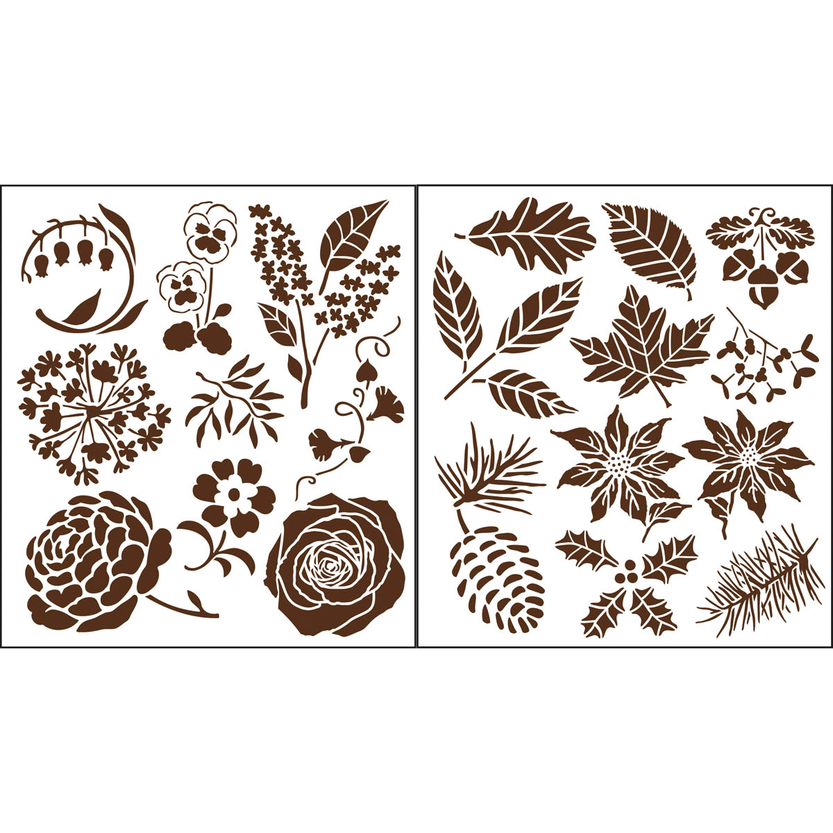 Martha Stewart ® Laser-Cut Stencil - Four Seasons