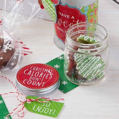 "Christmas Cookie Exchange Gift Idea - ""Calories Don't Count"""