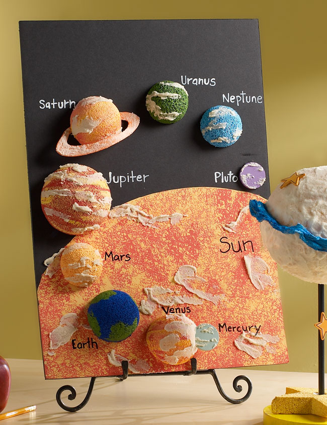 awesome out of this world solar system with cool poster ideas for school projects