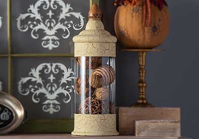 Crackled Glass Apothecary Jar