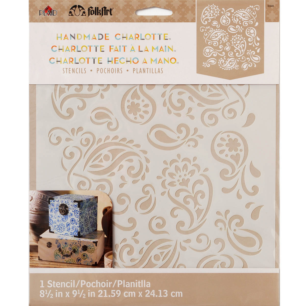 FolkArt ® Handmade Charlotte™ Stencils - Paisley Delight - 30948