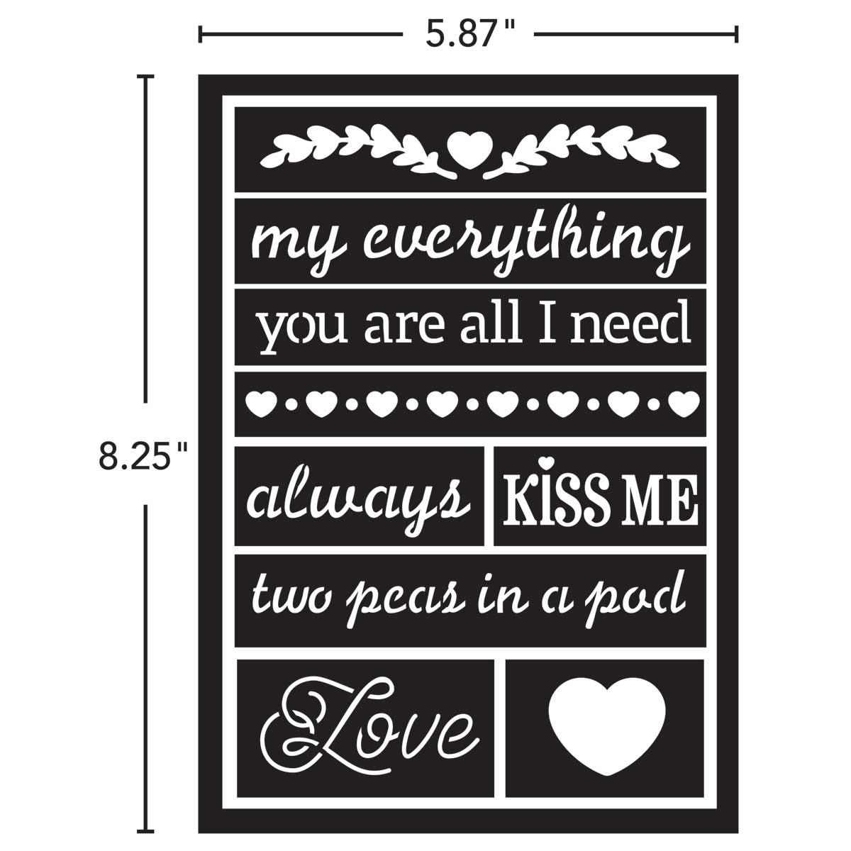 FolkArt ® Peel & Stick Painting Stencils - Loving Words - 63242