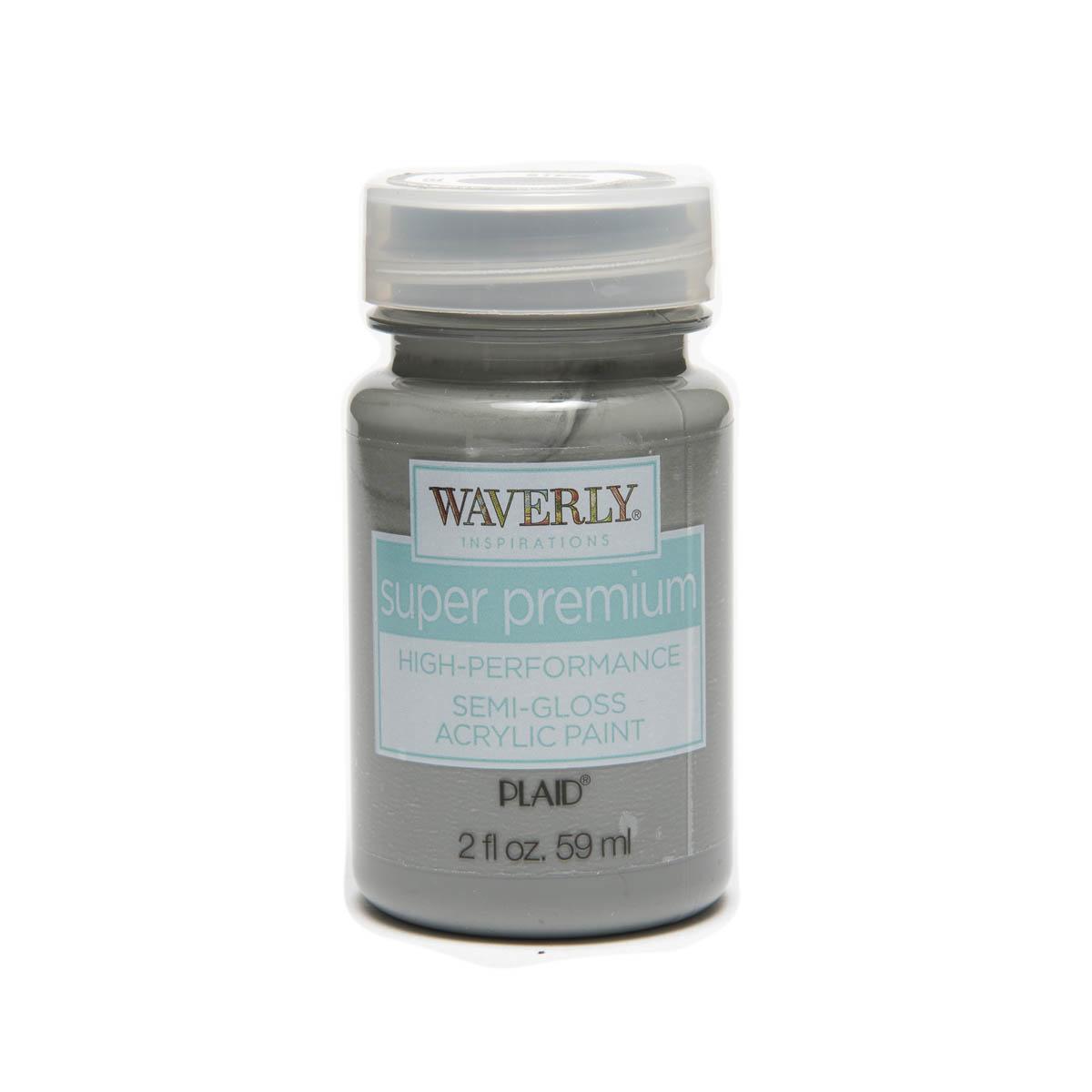 Waverly ® Inspirations Super Premium Semi-Gloss Acrylic Paint - Steel, 2 oz. - 60654E
