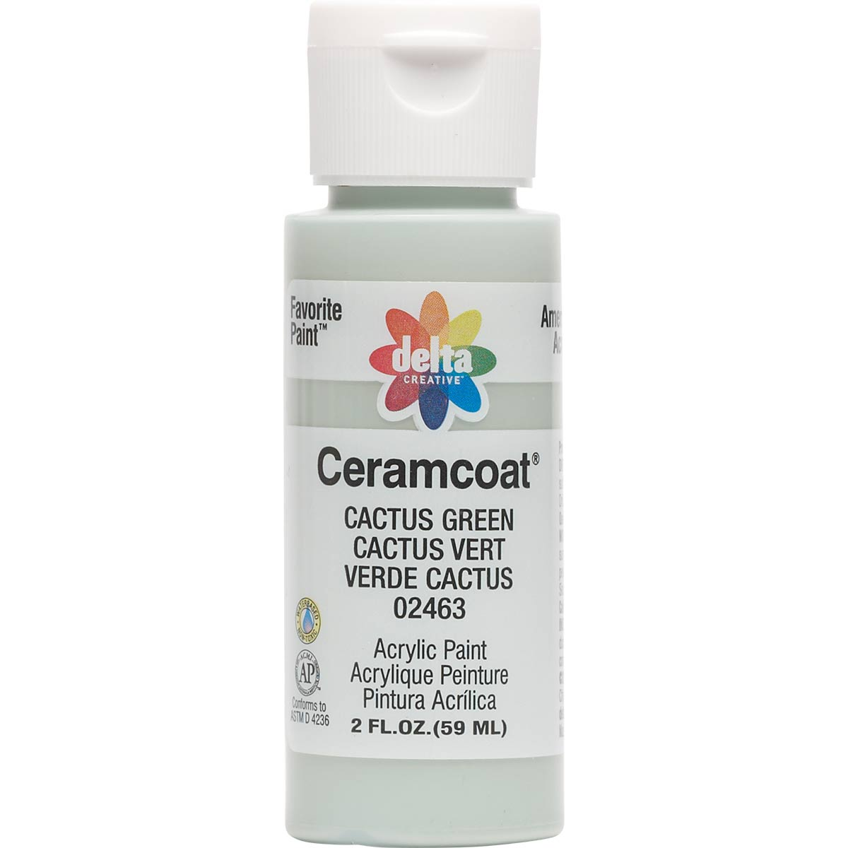 Delta Ceramcoat ® Acrylic Paint - Cactus Green, 2 oz. - 024630202W