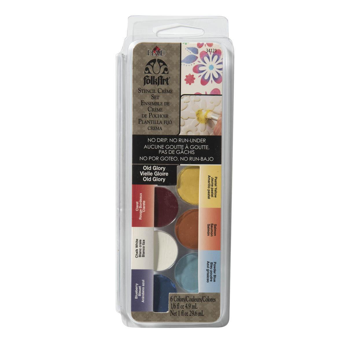 FolkArt ® Dry Brush Stencil Creme Set - Old Glory